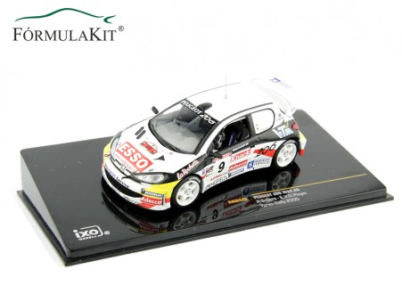 1:43 Peugeot 206 WRC Nº9 Ypres Rallye 2000
