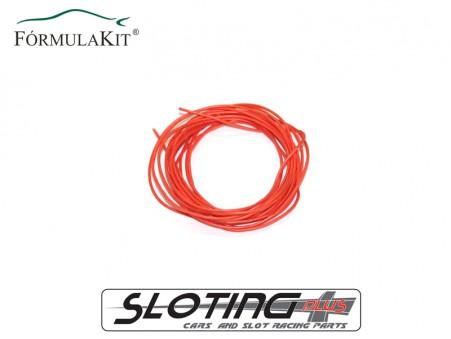 Cable eléctrico de silicona libre de oxígeno (OFC) NARANJA