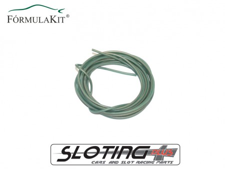 Cable eléctrico de silicona libre de oxígeno (OFC) VERDE