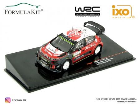 1:43 Citroën C3 WRC 2017 Rallye Sardegna