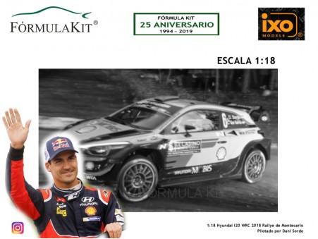 1:18 Hyundai I20 WRC 2018 Rallye Montecarlo Dani Sordo