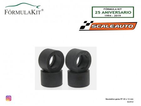 Neumático goma RT 20 x 12 mm