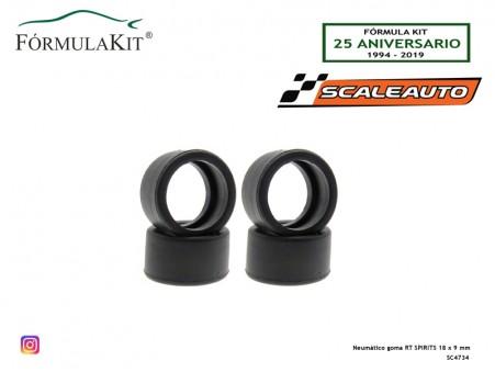 Neumático goma RT SPIRITS 18 x 9 mm