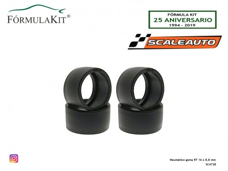 Neumático goma RT 16 x 8,8 mm
