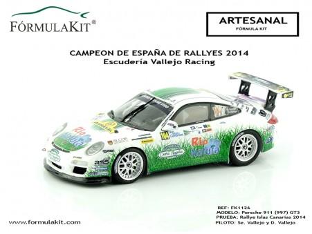 1:43 Porsche 911 (997) Sergio Vallejo Campeón España 2014