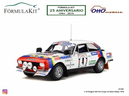 1:18 Peugeot 504 Coupe V6 Rallye Safari 1978