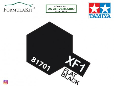Pintura Tamiya XF-1 Flat Black