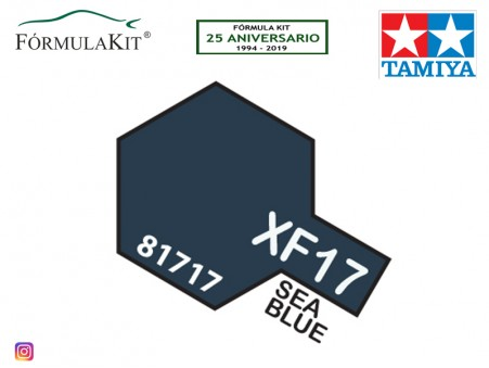 Pintura Tamiya XF-17 Sea Blue