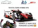 1:18 Toyota TS050 Hybrid Winner Le Mans 2018