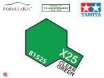 Traslúcido Tamiya X-25 Clear Green