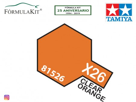 Traslúcido Tamiya X-26 Clear Orange