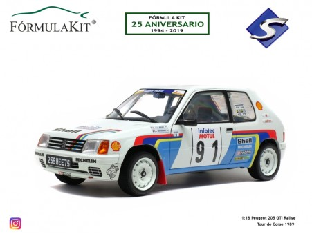 1:18 Peugeot 205 Rallye Tour de Corse 1989
