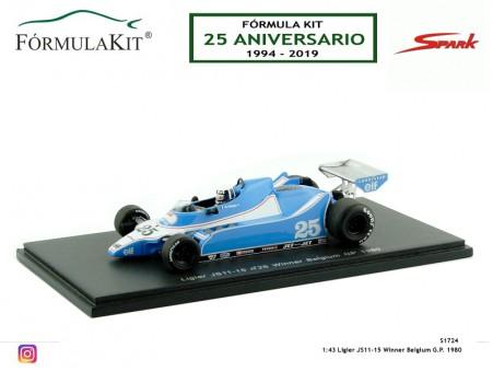 1:43 Ligier JS11-15 Winner Belgium G.P. 1980