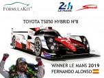 1:18 Toyota TS050 Hybrid Winner Le Mans 2019 Fernando ALonso