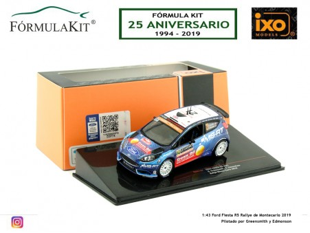 1:43 Ford Fiesta R5 Rallye de Montecarlo 2019