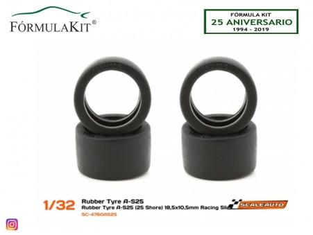 Neumático AS25 18,5 x 10,5 mm Racing Slick