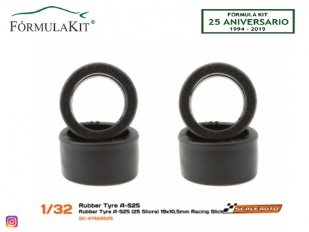 Neumático AS25 19 x 10,5 mm Racing Slick