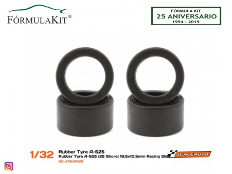 Neumático AS25 19,5 x 10,5 mm Racing Slick