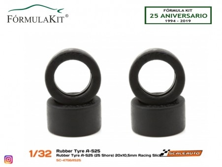 Neumático AS25 20 x 10,5 mm Racing Slick