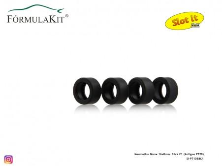 Neumático Goma 16x8mm. Slick C1 (Antiguo PT20)