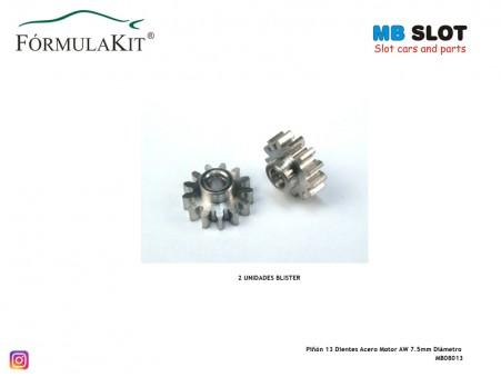 Piñón 13 Dientes Acero Motor AW 7.5mm Diámetro
