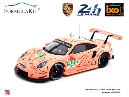 1:18 Porsche 911 GT3 RSR 24h Winner Le Mans 2018