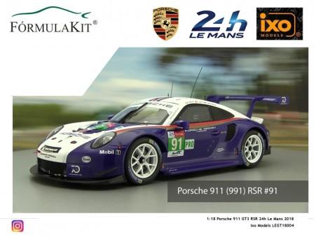 1:18 Porsche 911 GT3 RSR 24h Le Mans 2018