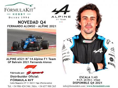 1:43 ALPINE A521 N°14 Alpine F1 Team Fernando Alonso