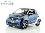 1:18 Smart Fortwo Cabrio 2015 - blue & silver