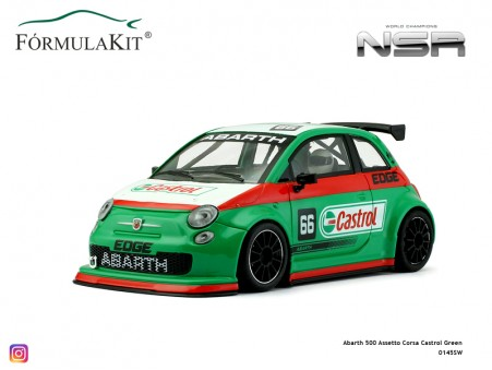 Abarth 500 Assetto Corsa Castrol Green