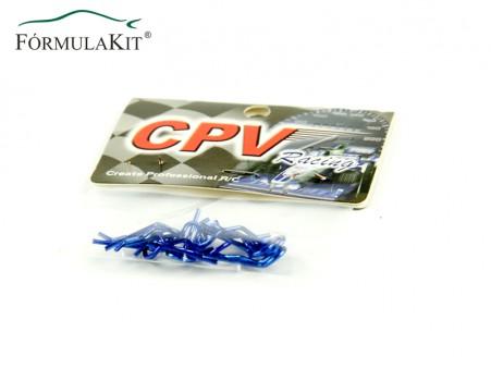 Clips De Carrocería Color Azul Grandes (5)